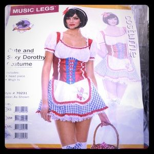 MUSIC LEGS CUTE AND SEXY DOROTHY COSTUME SZ S & ML